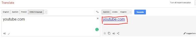 Youtube unblock using Google translator