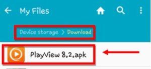 Install PlayView App
