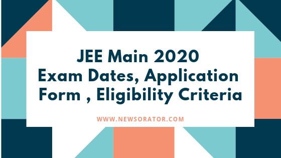 JEE Main 2020 Exam Dates