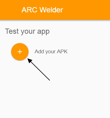 Add APK on Arc welder