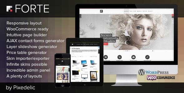 Forte WordPress theme